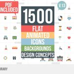 Flat Animated Icons Library v.13